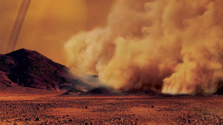 На най-голямата сатурнианска луна - Титан, бушуват гигантски пясъчни бури,