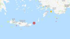 Земетресение от 5 по Рихтер разтърси остров Крит