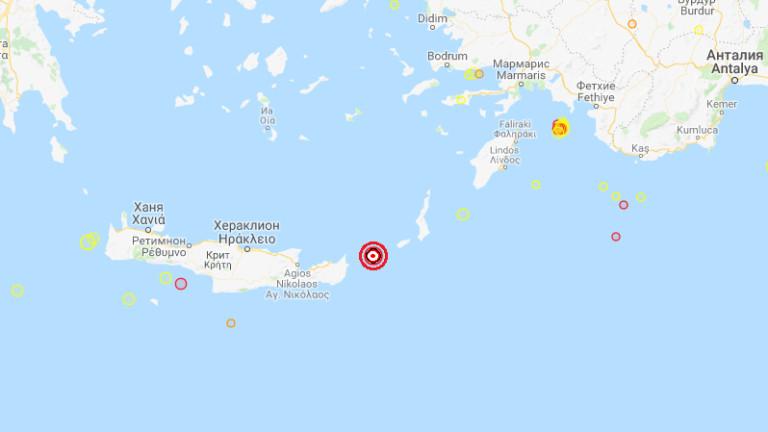 Земетресение с магнитуд от 4.7 по скалата на Рихтер беше