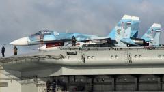 Вижте единствения руски самолетоносач в действие