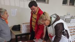 БЧК започва раздаването на хранителни продукти в София