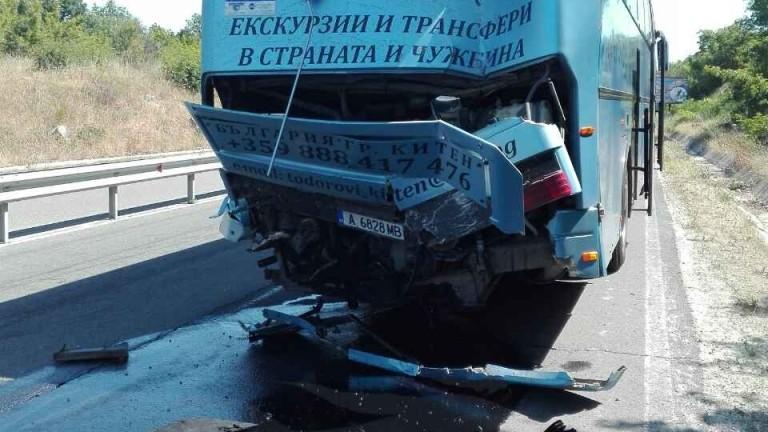 """Автобус с деца катастрофира на АМ """"Тракия"""""""