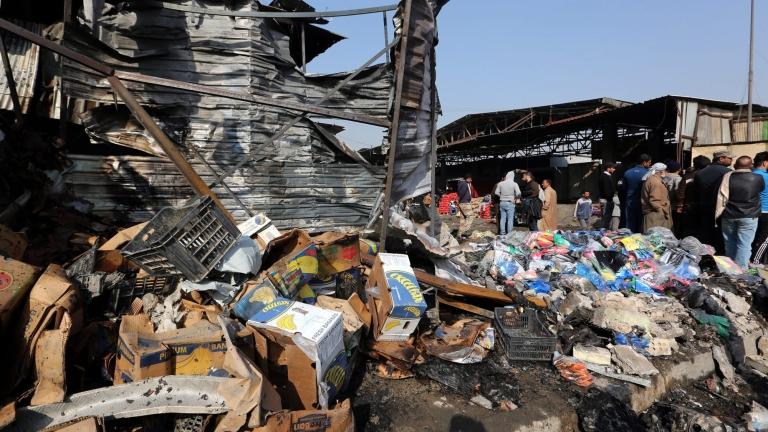 Багдад подложен на ракетен обстрел след окървавените сблъсъци