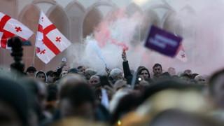Хиляди грузинци протестират срещу новия президент с обвинения за измама във вота
