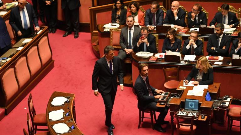 Бившият премиер на Италия Матео Ренци ще се отцепи от