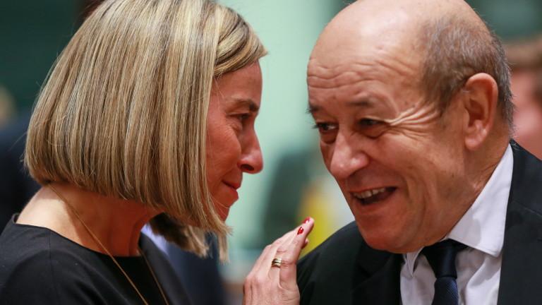 Министърът на външните работи на Франция Жан-Ив льо Дриан заяви,