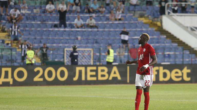Али Соу все още няма гол срещу Лудогорец