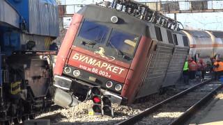 Товарен влак с пропанбутан дерайлира на гара Пловдив