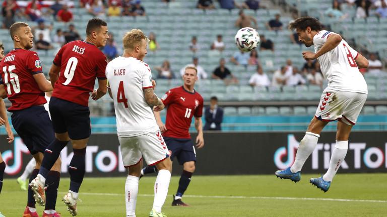 Чехия - Дания 1:2, Шик върна чехите в мача