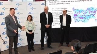 Telenor достигна 75% покритие на 4G мрежата си в България
