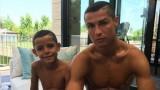 Кристиано Роналдо направи сина си пълно свое копие