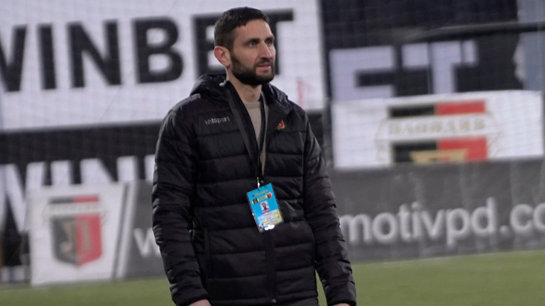Треньорът на Локомотив (Пловдив) Александър Тунчев говори след победата с