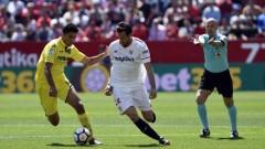 В мач с 4 гола и 2 червени картона: Севиля се спаси в края срещу Виляреал