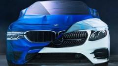 Войната между BMW и Mercedes - и на Хелоуин