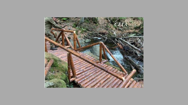 Вандали потрошиха новоизграден мост в природен парк -