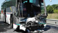 Катастрофа между два автобуса затвори пътя Бургас - Созопол
