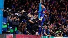 Лионел Меси само на гол зад Кристиано Роналдо в Шампионска лига