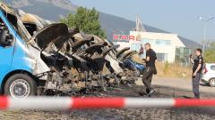 9 буса пламнаха едновременно на столичен паркинг
