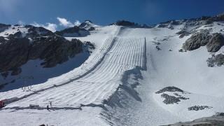 В Италия покриват ледника Презена, за да го защитят от глобалното затопляне