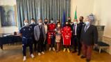 Делегация от ДЮШ на ЦСКА беше в италианското посолство
