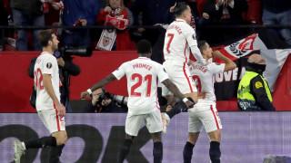 """Севиля спечели група """"J"""" и продължава напред в Лига Европа"""