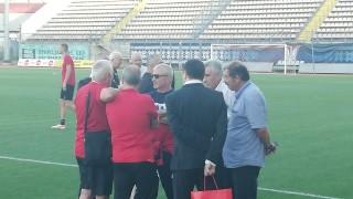 Гриша Ганчев зарадва дете на тренировката на ЦСКА
