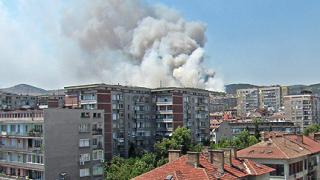 """Пожар до """"Аязмото"""", в Стара Загора - бедствено положение"""
