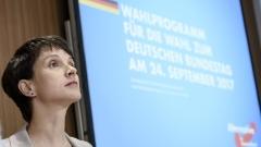 Германската прокуратура повдига обвинения срещу Фрауке Петри