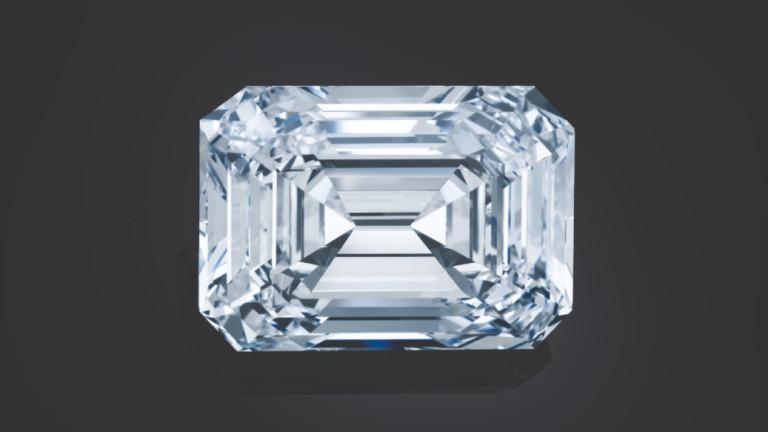 100,94-каратов безцветен диамант, който се смята за най-големият обработен скъпоценен