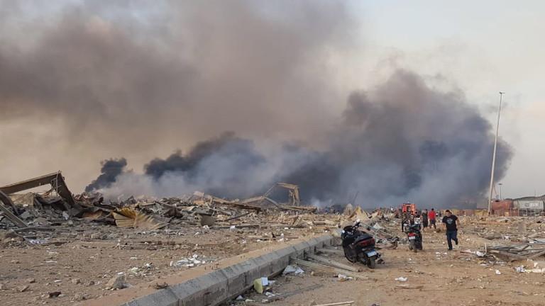 Мощна експлозия е станала в района на пристанището на ливанската