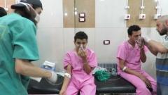 Сирийските правителствени сили бомбардират Алепо с варелни бомби, съдържащи хлор