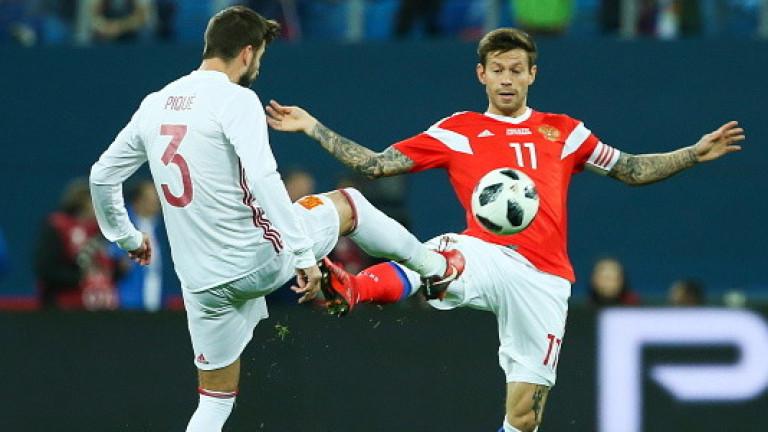 Русия и Испания не успяха да се победят в голово шоу (ВИДЕО)