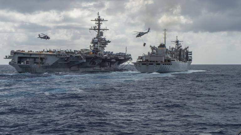 Военноморските сили (ВМС) на САЩ съобщиха, че са провели военни
