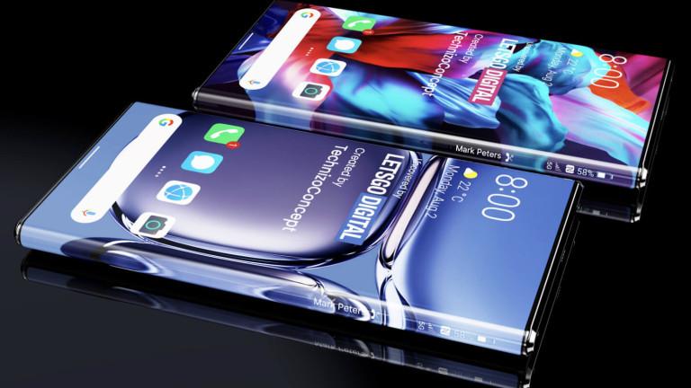 Huawei патентова смартфон с невиждан досега екран
