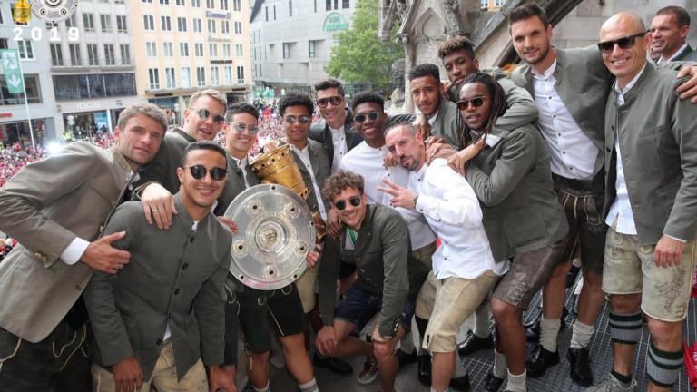 Сълзи белязаха празненствата на дубъла на Байерн (Мюнхен)