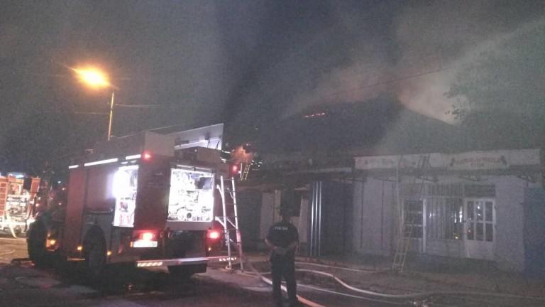 Пожар е избухнал в района на бийч бара на ваканционно