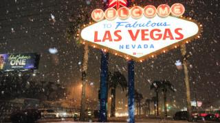 Сняг вали в Лас Вегас