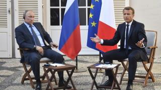 Макрон гълчи Путин за бомбардировките в Сирия