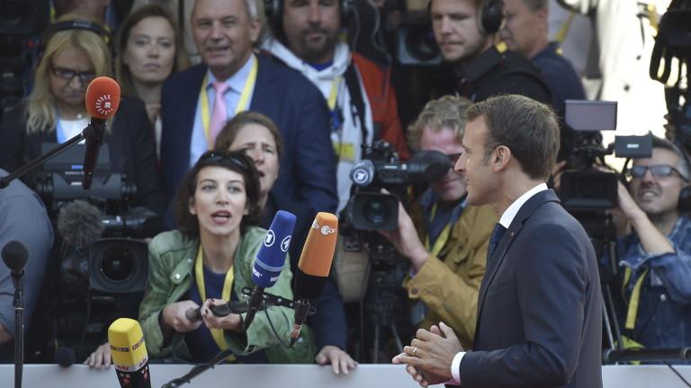 Президентът на Франция Еманюел Макрон призова колегите си от ЕС