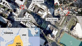 Кран се срути върху 23-етажен блок в Ню Йорк