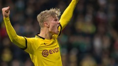 Борусия (Дортмунд) - Шалке 4:0, голове на Халанд, Герейро и Азар!