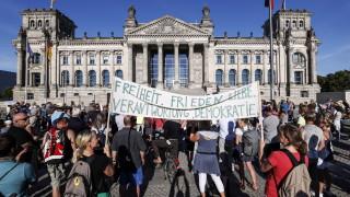45 са пострадалите полицаи на протеста в Берлин, 133 души са арестувани
