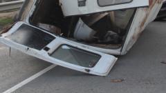 Бременна жена пострада при удар на два микробуса на пътя София-Русе