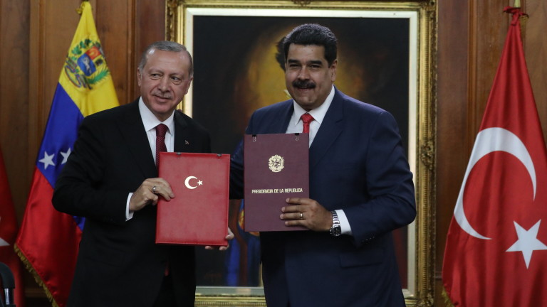 Президентът на Турция Реджеп Ердоган телефонира на венецуелския лидер Николас