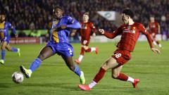 Младоците на Ливърпул пропиляха предимство от 2 гола и ще преиграват срещу Шрюсбъри за ФА Къп