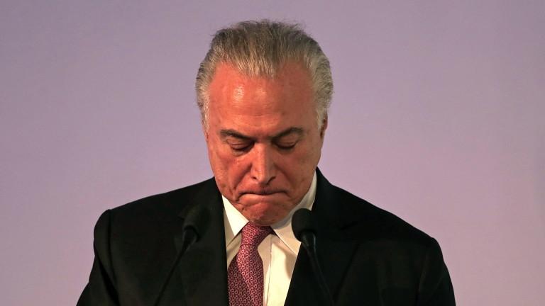Арестуваха за корупция бившият президент на Бразилия Мишел Темер