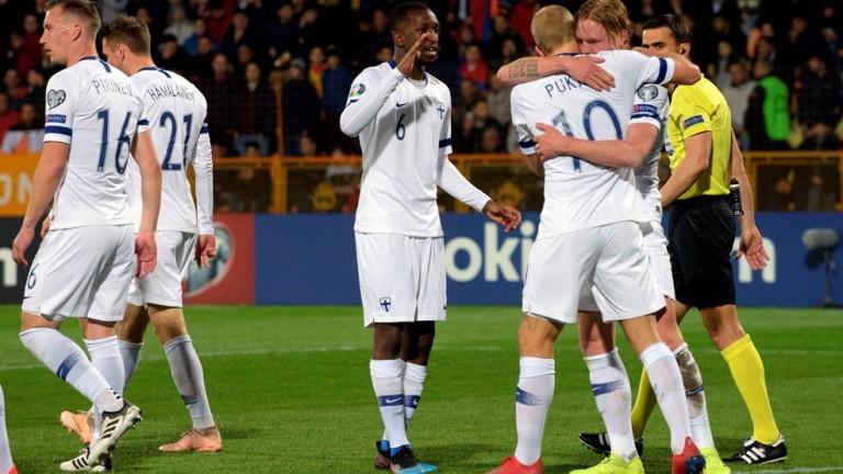 Националният отбор на Финландия се наложи над единайсеторката на Армения