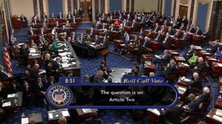 Сенатът оправда Доналд Тръмп