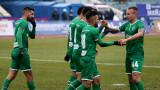 Дунав - Лудогорец, 0:2 (Развой на срещата по минути)