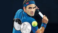 Швейцария пуска монети с лика на Роджър Федерер